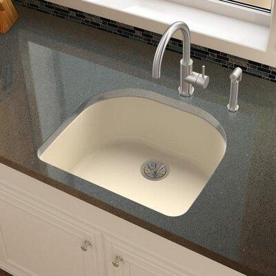 Quartz Luxe 25 x 22 Undermount Kitchen Sink Finish: Parchment