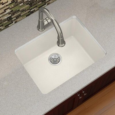 Quartz Luxe 25 x 19 Undermount Kitchen Sink Finish: Ricotta