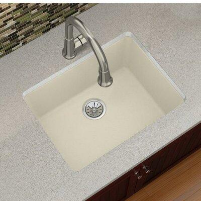 Quartz Luxe 25 x 19 Undermount Kitchen Sink Finish: Parchment