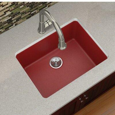 Quartz Luxe 25 x 19 Undermount Kitchen Sink Finish: Maraschino