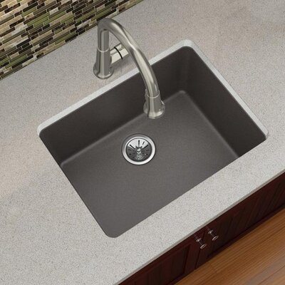 Quartz Luxe 25 x 19 Undermount Kitchen Sink Finish: Chestnut