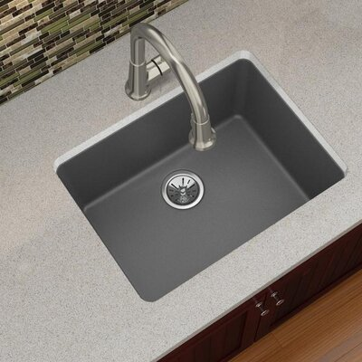 Quartz Luxe 25 x 19 Undermount Kitchen Sink Finish: Charcoal