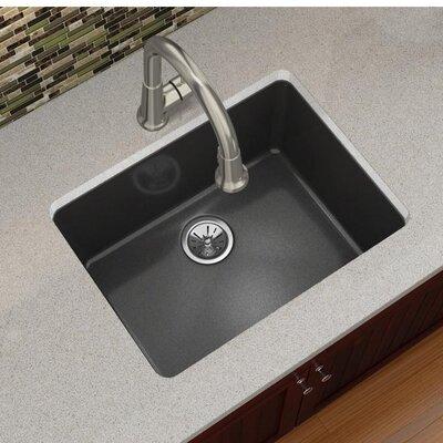 Quartz Luxe 25 x 19 Undermount Kitchen Sink Finish: Caviar