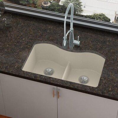 Quartz Luxe 33 x 20 Double Basin Undermount Kitchen Sink Finish: Parchment