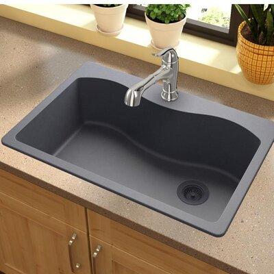 Quartz Classic 33 x 22 Drop-In Kitchen Sink Finish: Dusk Gray