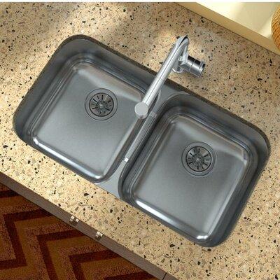 31.75 x 18.25 Double Basin Undermount Kitchen Sink