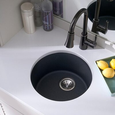 Quartz Classic 18.13 x 18.13 Dual Mount Kitchen Sink Finish: Dusk Gray
