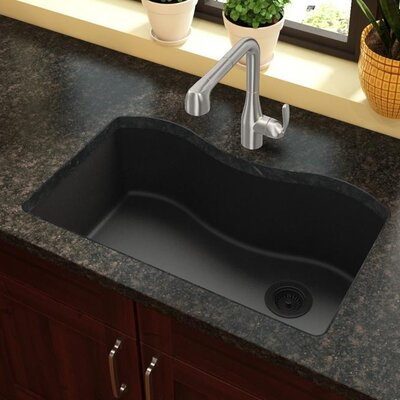 Quartz Classic 33 x 20 Undermount Kitchen Sink Finish: Black
