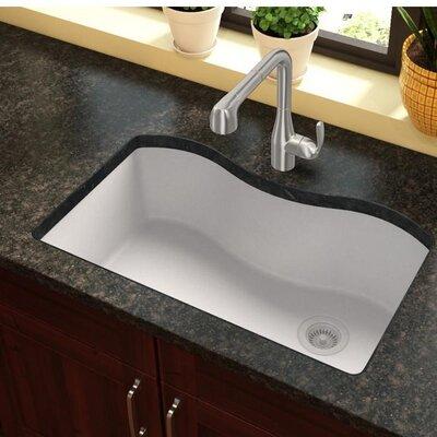 Quartz Classic 33 x 20 Undermount Kitchen Sink Finish: White