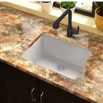 Quartz Classic 25 x 19 Undermount Kitchen Sink Finish: White