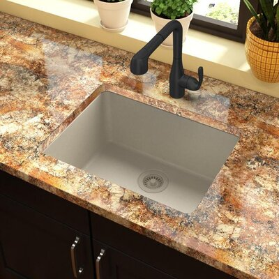 Quartz Classic 25 x 19 Undermount Kitchen Sink Finish: Bisque