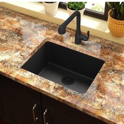 Quartz Classic 25 x 19 Undermount Kitchen Sink Finish: Black