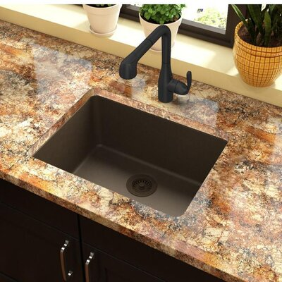 Quartz Classic 25 x 19 Undermount Kitchen Sink Finish: Mocha