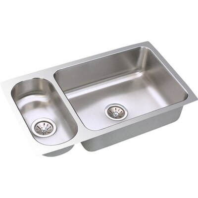 Gourmet 32.25 x 18.25 Package Kitchen Sink with Bottom Grid and Drain Assembly