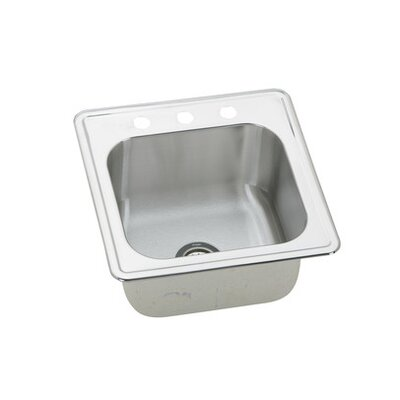 Gourmet 20 x 20 Kitchen Sink Faucet Drillings: 2 Hole