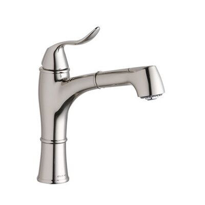 Explore One Handle Deck Mount Pull Out Kitchen Faucet Finish: Polished Nickel