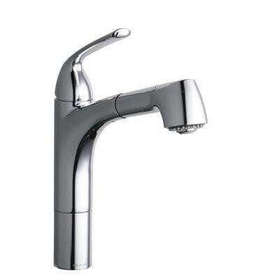 Gourmet Single Handle Deck Mount Kitchen Faucet Finish: Chrome