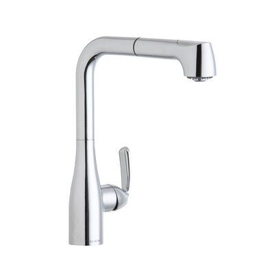 Gourmet Single Handle Deck Mount Kitchen Faucet Finish: Chrome