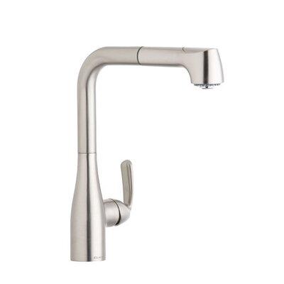 Gourmet Single Handle Deck Mount Kitchen Faucet Finish: Brushed Nickel