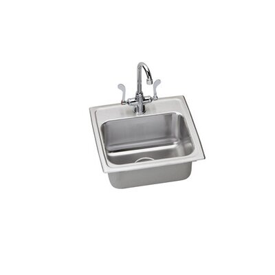 Lustertone 17 x 16 Kitchen Sink with Faucet Finish: Satin Chrome