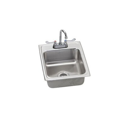 Kitchen Sink with Faucet Finish: Satin Chrome