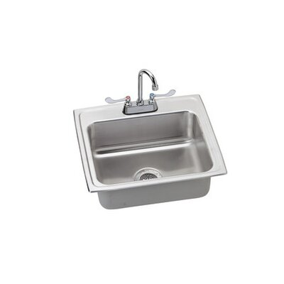 Lustertone 22 x 19.5 Kitchen Sink Finish: Satin Chrome