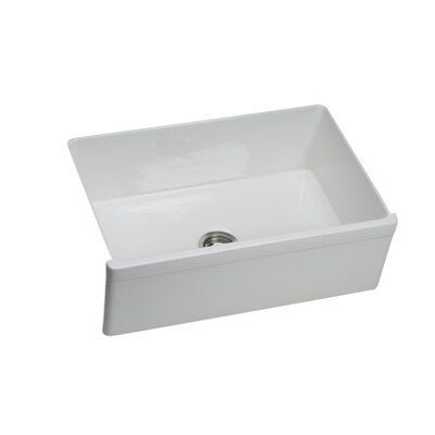 Explore 29.88 x 19.75 Undermount Kitchen Sink Finish: White (Gloss)