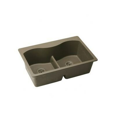Harmony E-Granite Double Bowl Top Mount Kitchen Sink