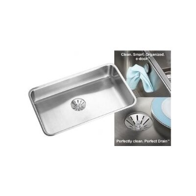 Lustertone 31 x 19 Undermount Kitchen Sink with Perfect Drain and Sink Grid