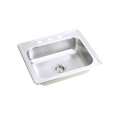 Dayton 25 x 22 Top Mount Kitchen Sink Faucet Drillings: 4 Holes