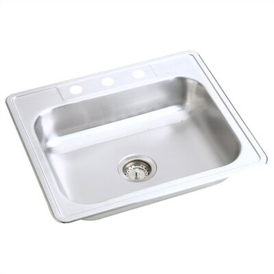 Kingsford 25 x 22 Top Mount Single Bowl Kitchen Sink