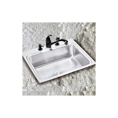Gourmet 15 x 15 x 7.13Top Mount Kitchen Sink Faucet Drillings: No Hole