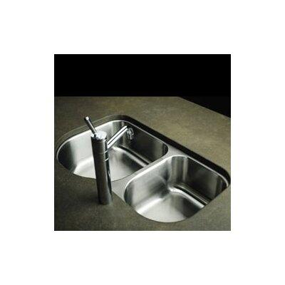 31.25 x 20 Double Basin Undermount Kitchen Sink
