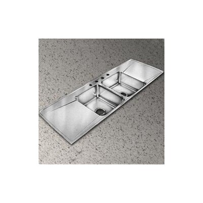 Lustertone 66 x 22 4-Hole Self Rimming Double Bowl Kitchen Sink