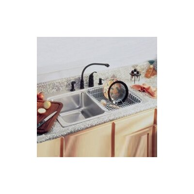 Lustertone 33 x 22 Double Basin Drop-In Kitchen Sink