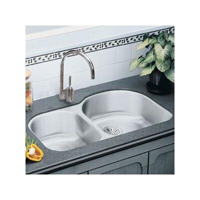 Lustertone 31 x 20 Double Basin Undermount Kitchen Sink