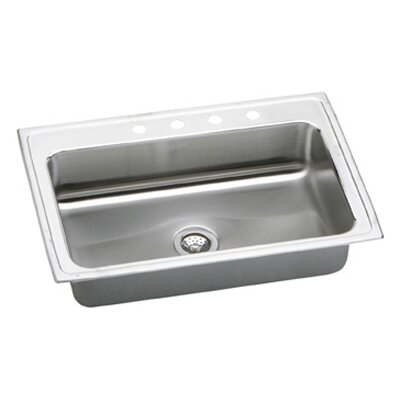 Gourmet 33 x 22  Kitchen Sink Faucet Drillings: 4 Holes