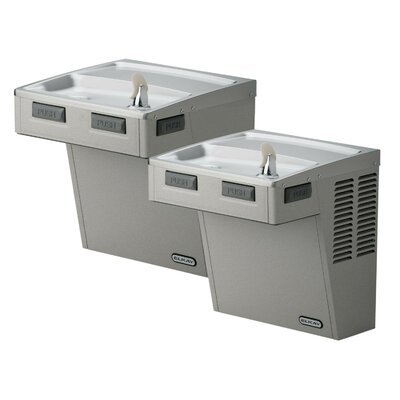Barrier-Free ADA Compliant 2 Station Wall Mount Drinking Fountain without Motor