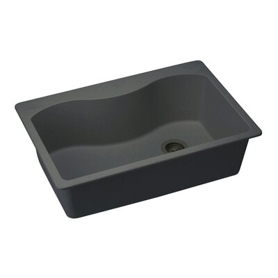 Quartz Classic 33 x 22 Kitchen Sink Finish: Black