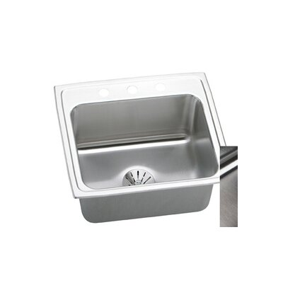 Gourmet 19x18 Top Mount Kitchen Sink with Perfect Drain Faucet Drillings: No Hole