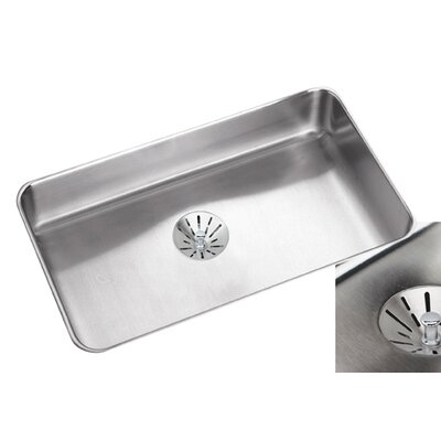 Lustertone 30.5 x 18.5 Undermount Single Bowl Kitchen Sink with Perfect Drain and Bottom Grid