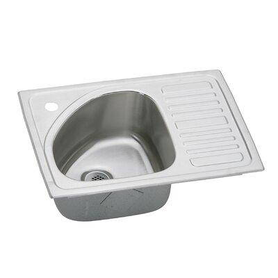 Gourmet 21 x 15 Drop-In Kitchen Sink Faucet Drillings: Yes