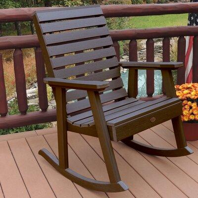 Highwood USA Weatherly Rocking Chair - Finish: Weathered Acorn