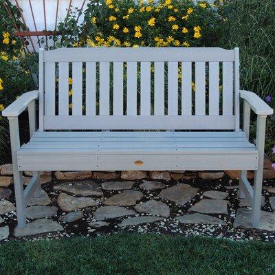 Highwood USA Lehigh Synthetic Wood Garden Bench - Size: 52