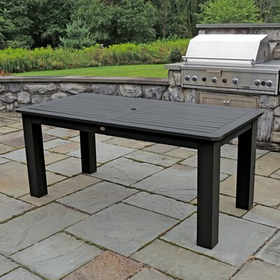 Synthetic Wood Bar Table Finish: Black
