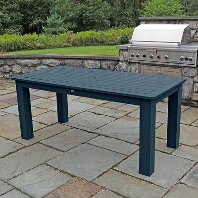 Synthetic Wood Bar Table Finish: Nantucket Blue