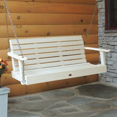 Weatherly Porch Swing Size: 20 H x 52 W x 24 D, Color: Whitewash