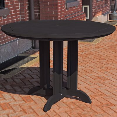 Dining Table Finish: Black, Table Size: 36 L x 36 W