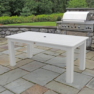 Synthetic Wood Bar Table Finish: White