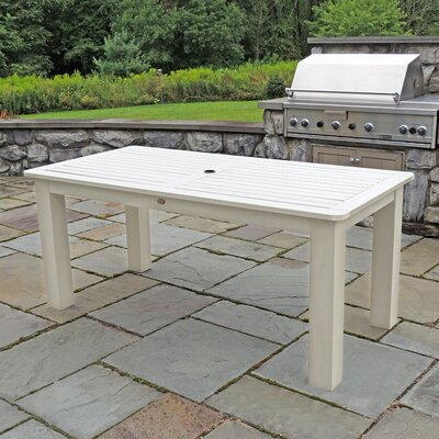 Synthetic Wood Bar Table Finish: Whitewash